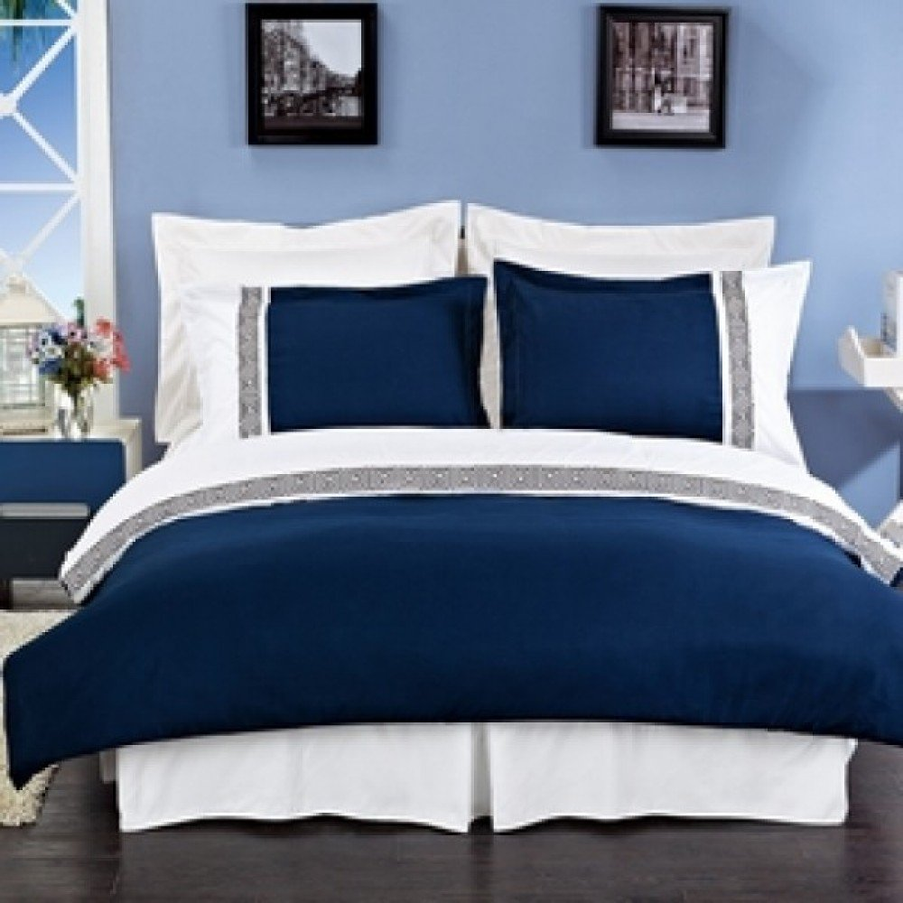 Navy And White Bedding Sets Home Furniture Design