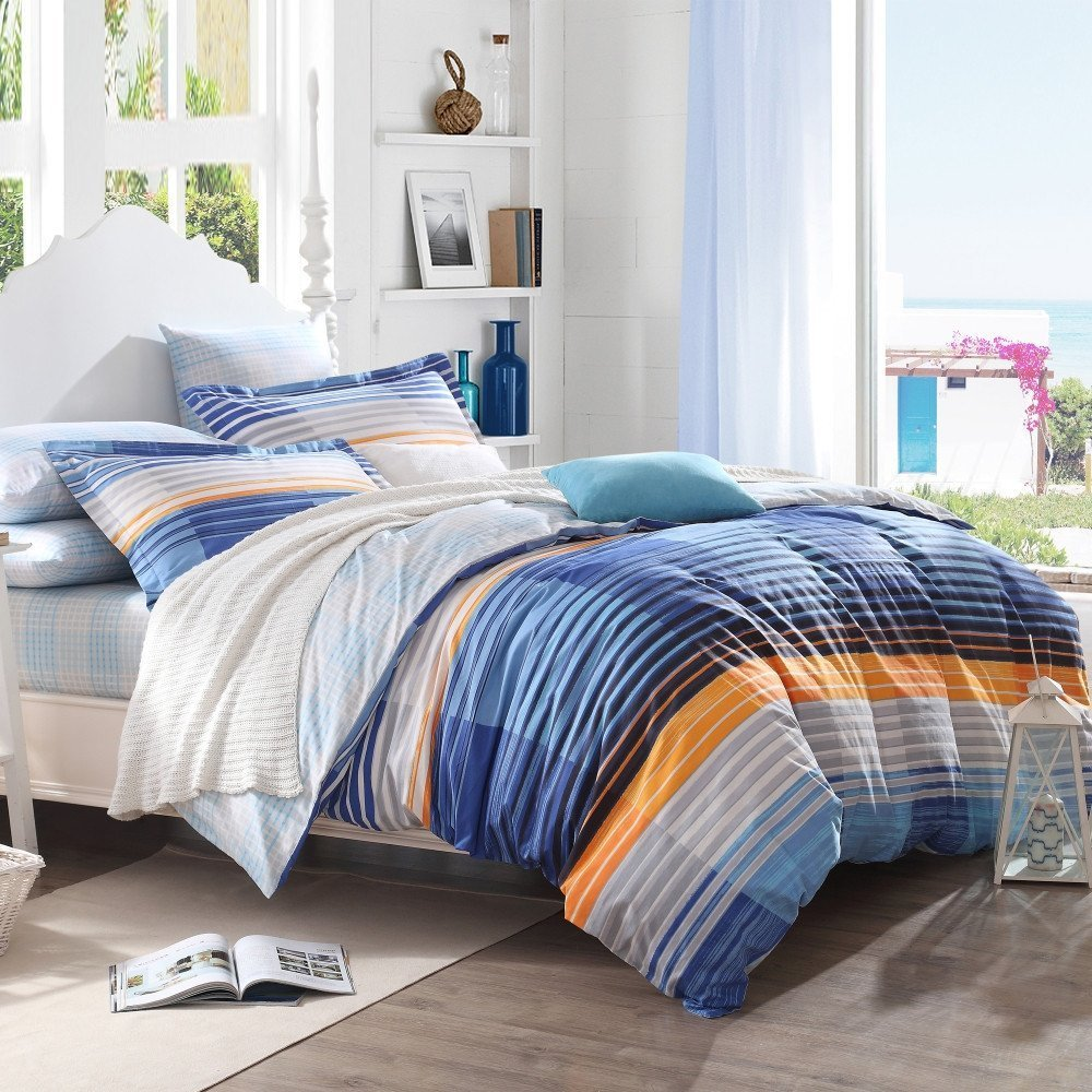 Orange And Blue Bedding Sets Home Furniture Design