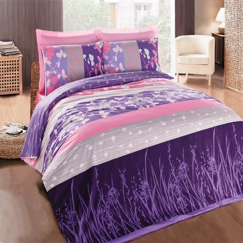 Pink and purple bedding sets home furniture design for Purple and pink bedroom designs