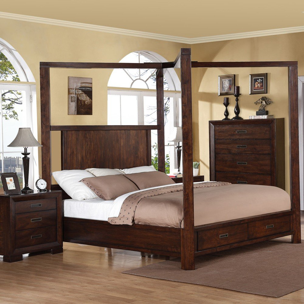 Queen Canopy Bed Set Home Furniture Design