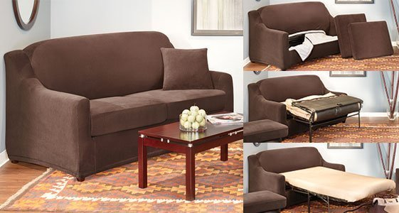 Sleeper sofa slipcover home furniture design Sleeper sofa covers