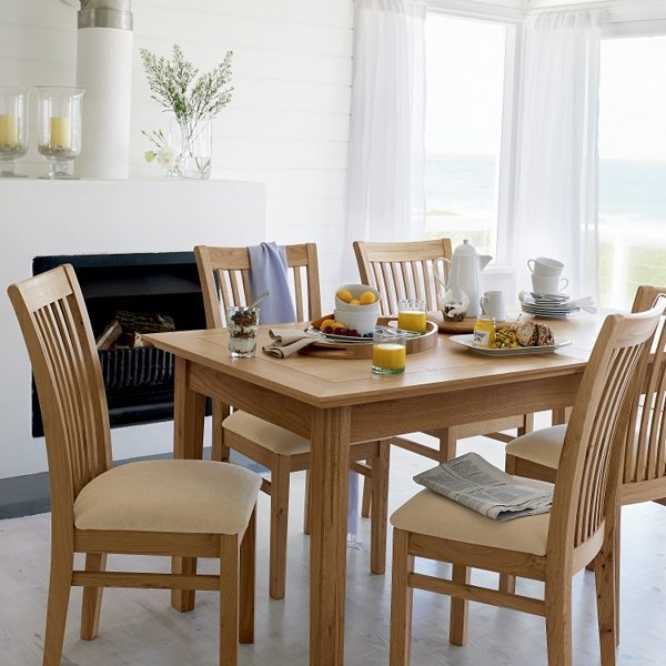 Solid oak dining room sets home furniture design for Oak dining room ideas