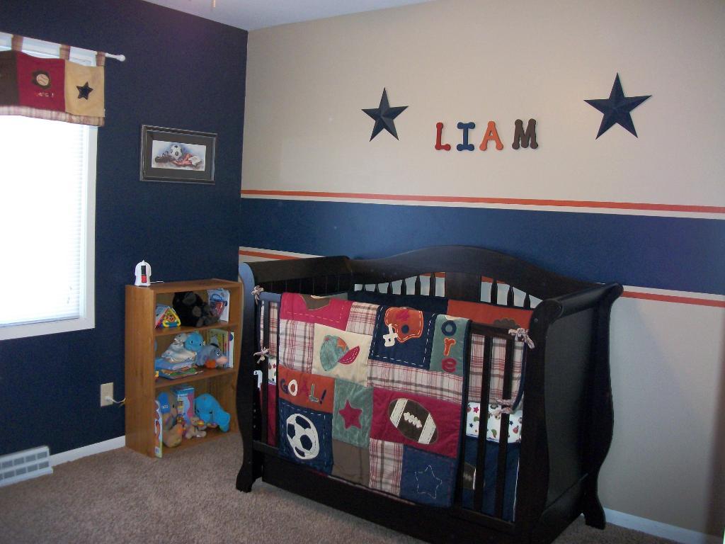 sports crib bedding sets home furniture design. Black Bedroom Furniture Sets. Home Design Ideas