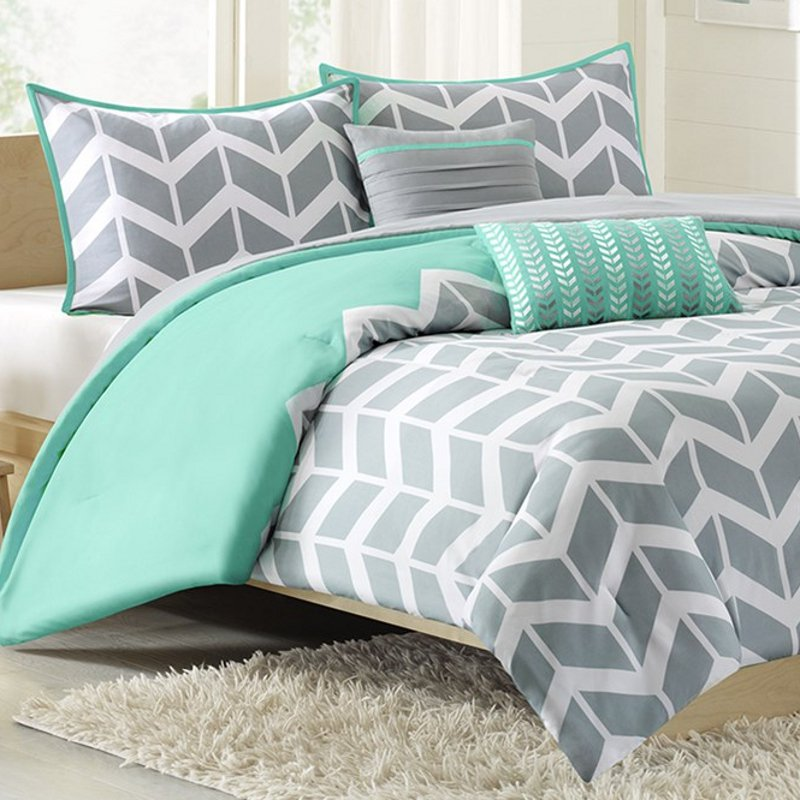 Gray And Green Bedding Sets