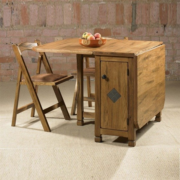 Charming Wooden Style Tumbleng Folding Dining Table Ideas
