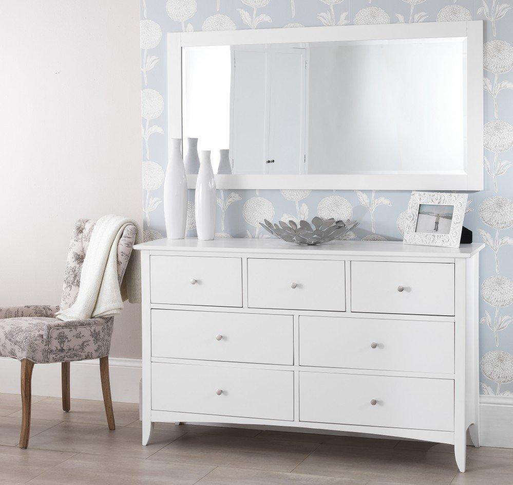 White 7 Drawer Dresser With Mirror Home Furniture Design