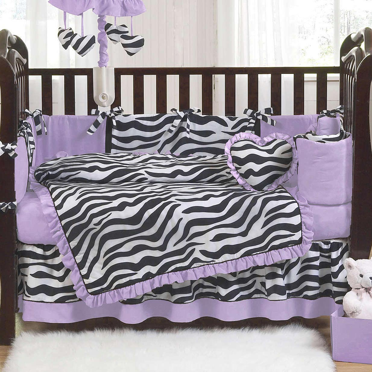 zebra print crib bedding sets home furniture design. Black Bedroom Furniture Sets. Home Design Ideas