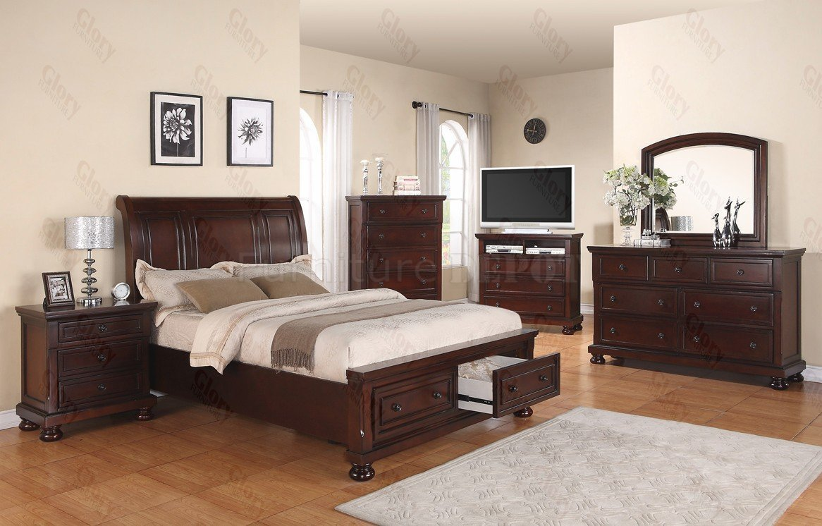 6 piece king bedroom set home furniture design for King bedroom furniture