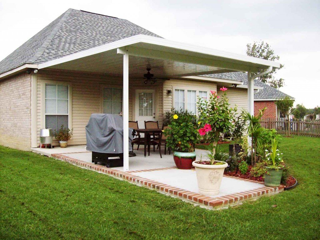 Aluminum patio covers extended outdoor living home for Patio cover ideas designs