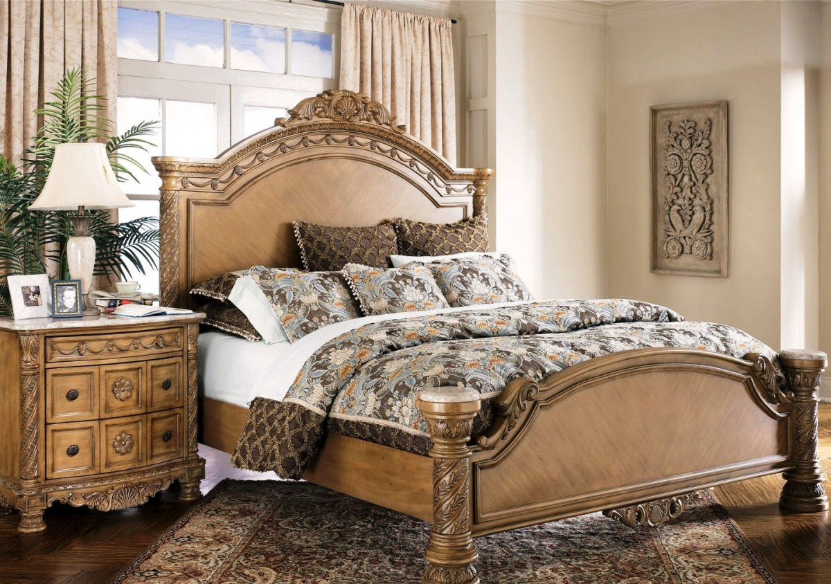 Buy ashley furniture allymore poster bedroom set buy for Ashley furniture bedroom sets