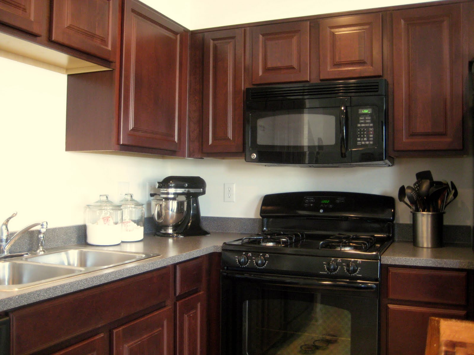 amusing cream kitchen cabinets | Black Cherry Cabinets - Home Furniture Design