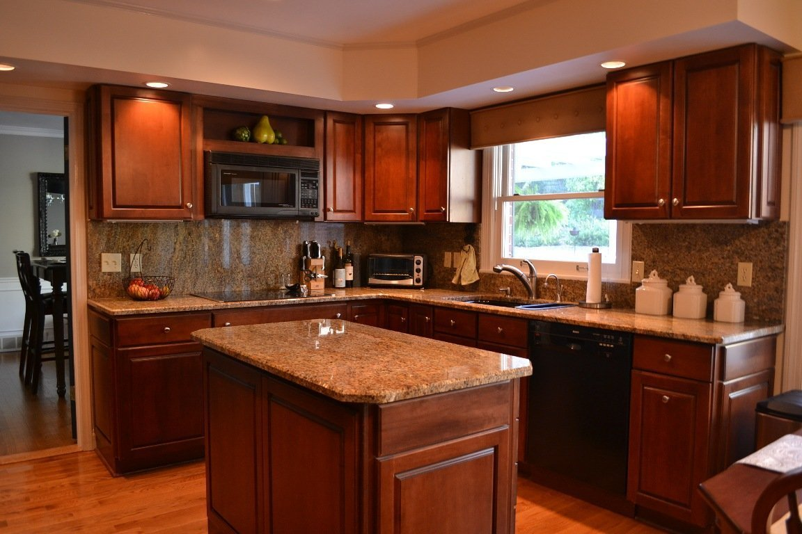 Cherry cabinets with granite countertops home furniture for Cherry cabinets