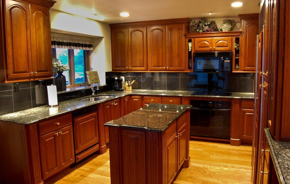 Cherry Cabinets with Wood Floors - Home Furniture Design