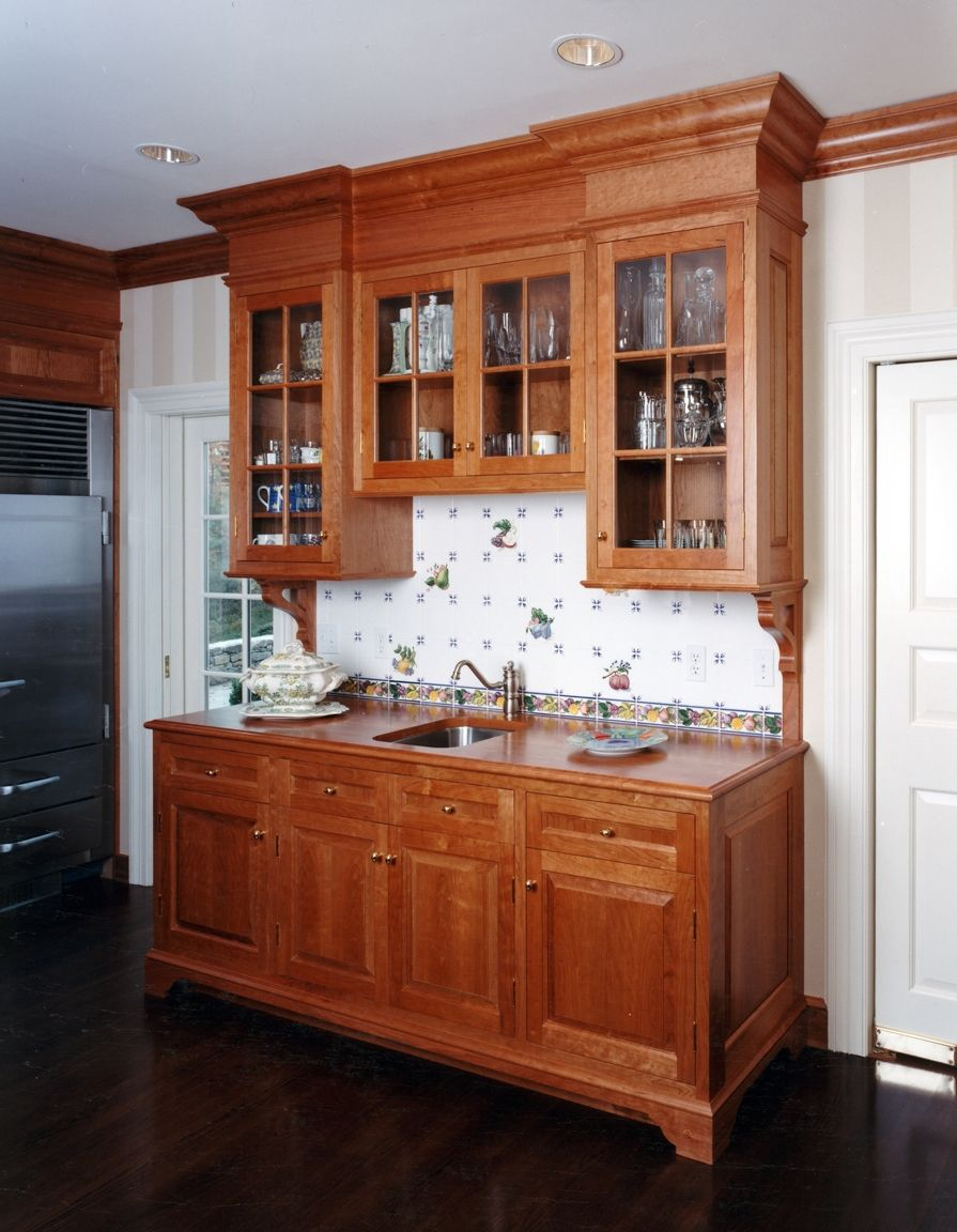 Cherry Pantry Cabinet Home Furniture Design