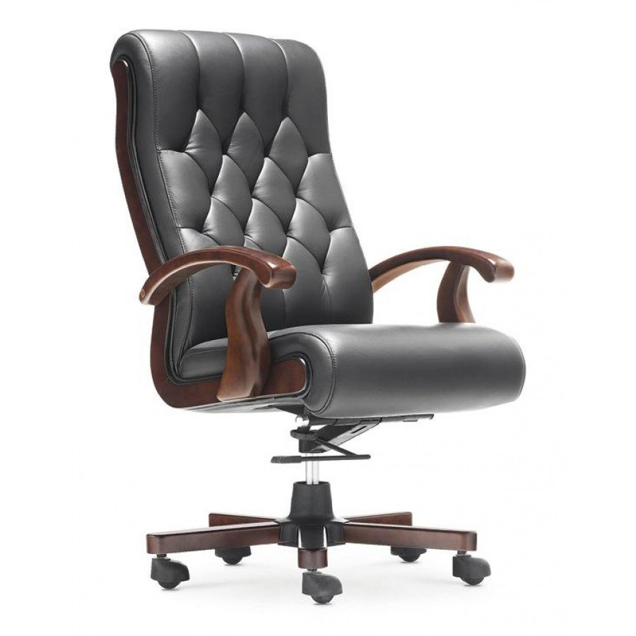 Executive Leather Office Chair - Home Furniture Design