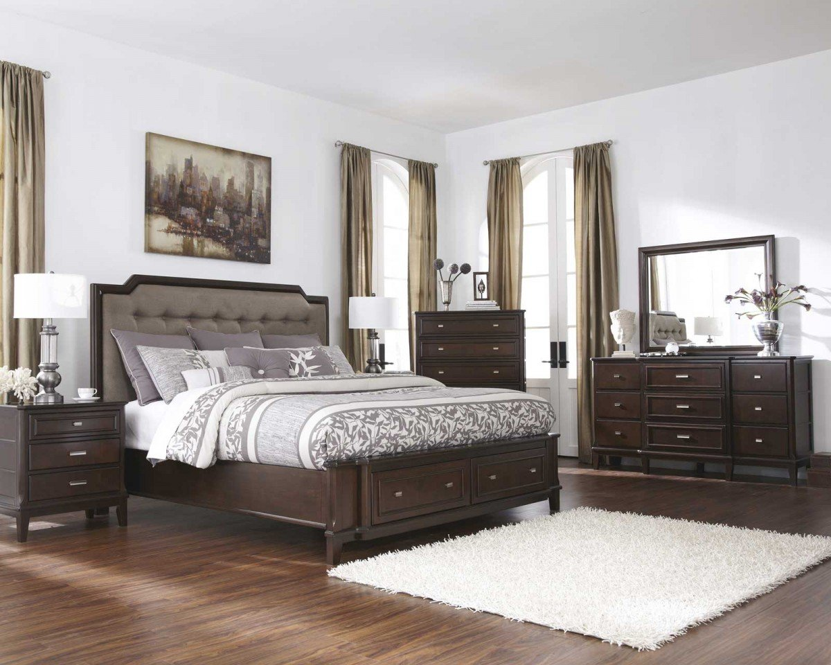 King bedroom sets with storage home furniture design for Bedding room furniture