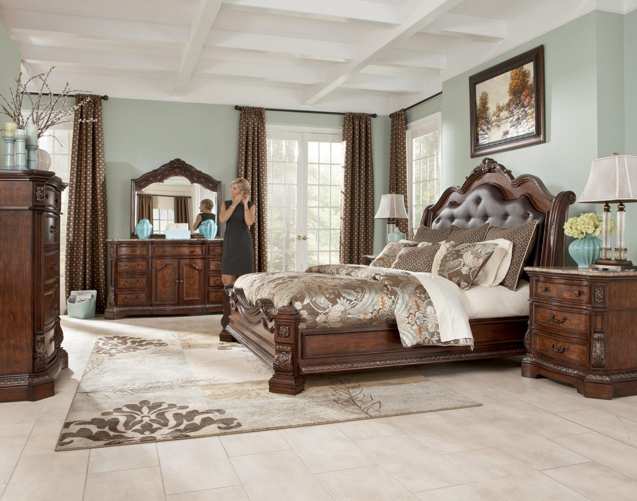 King sleigh bed bedroom sets home furniture design for King sleigh bed bedroom sets