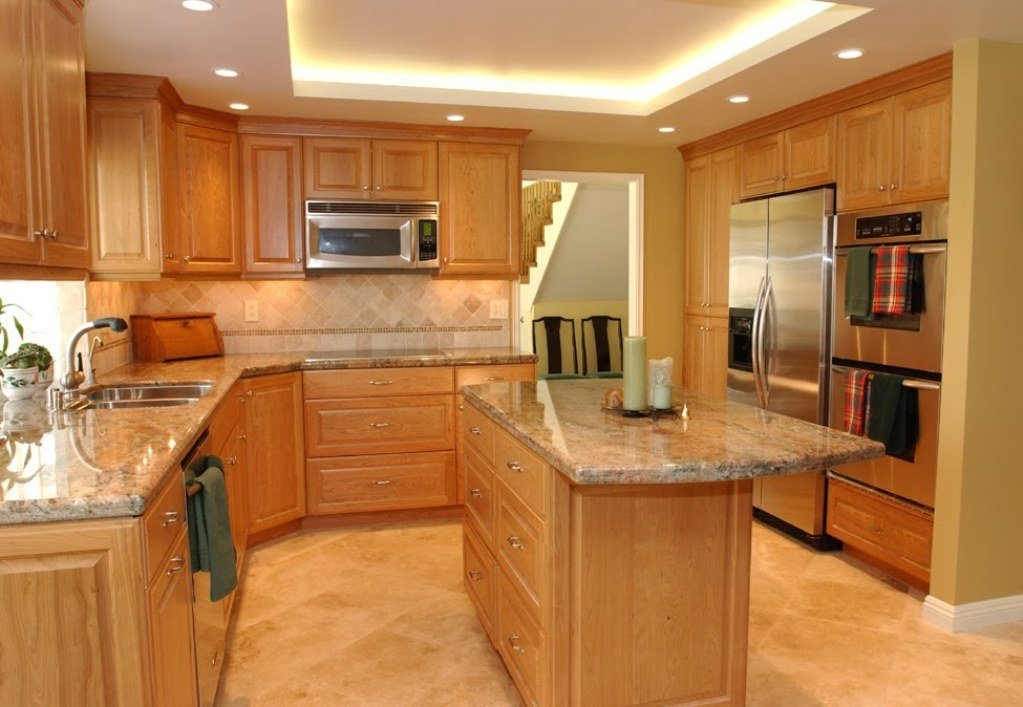 Natural Cherry Cabinets Home Furniture Design