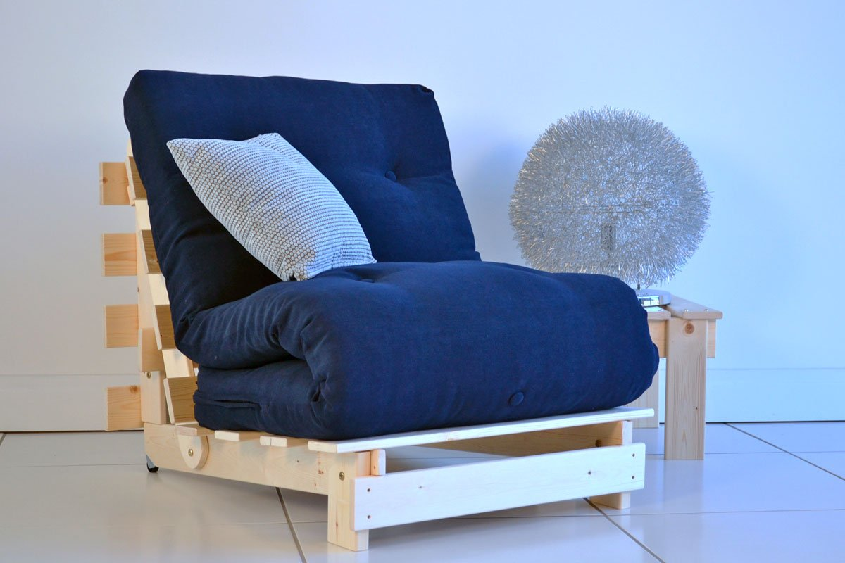Navy Blue Futon Cover Home Furniture Design
