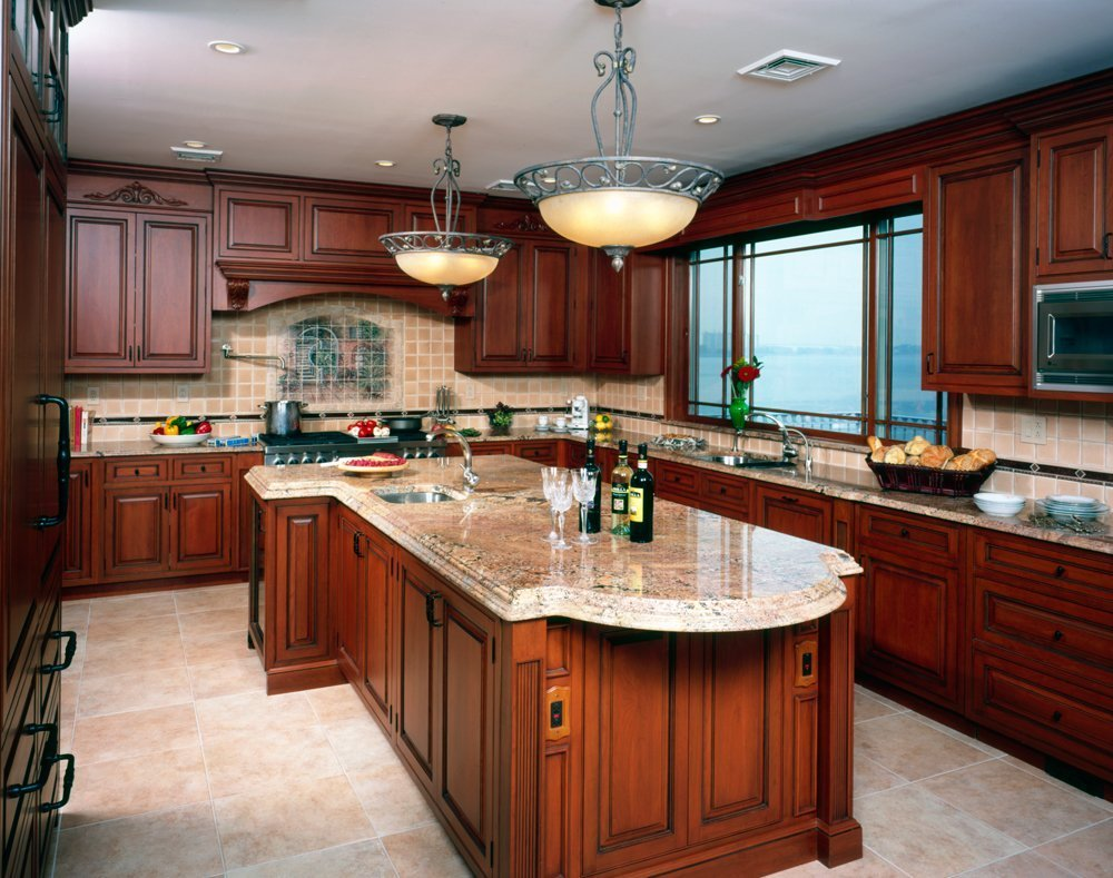 Pictures Of Kitchens With Cherry Cabinets