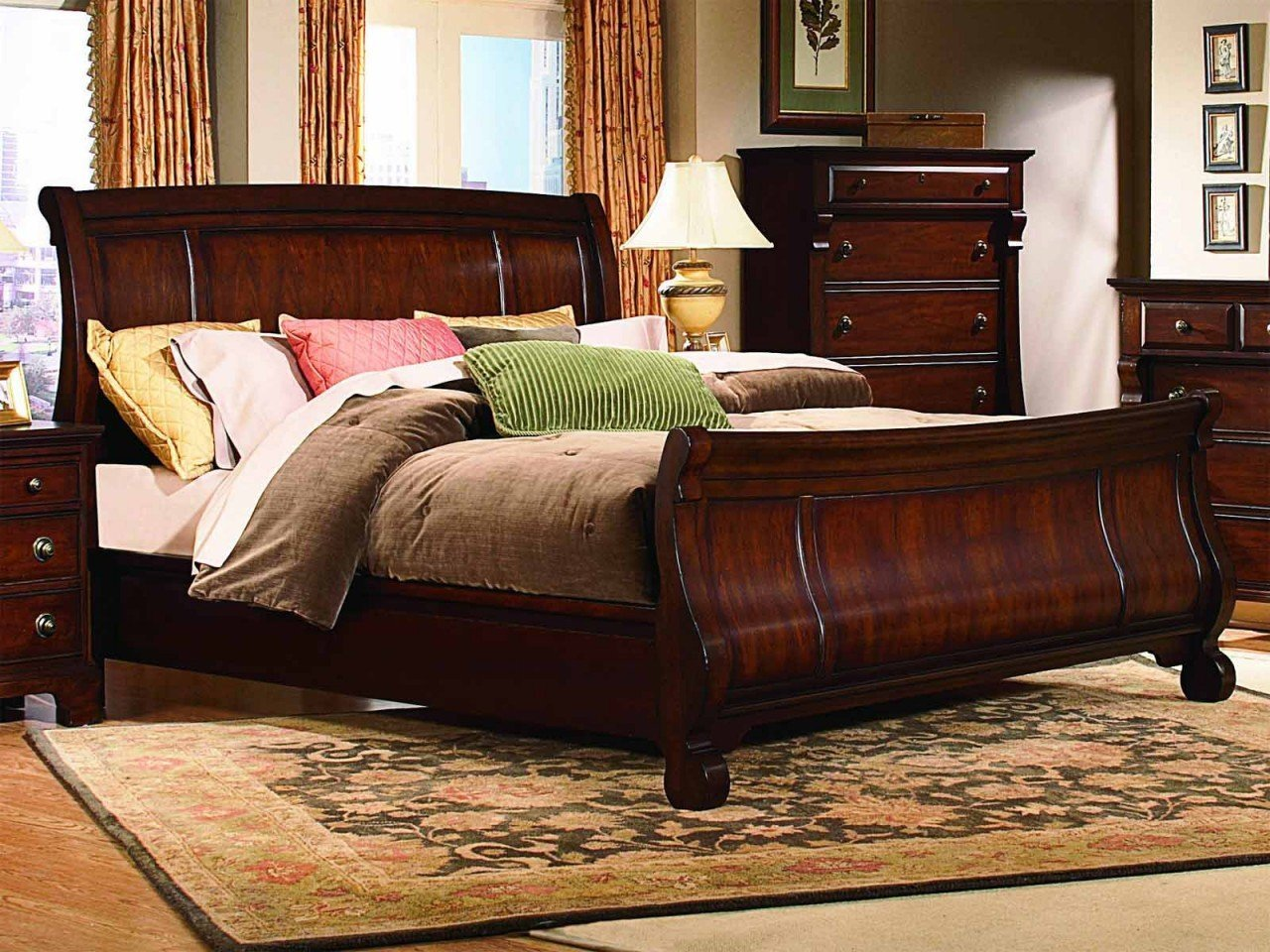 Queen sleigh bedroom set home furniture design for Bedroom furniture sets queen
