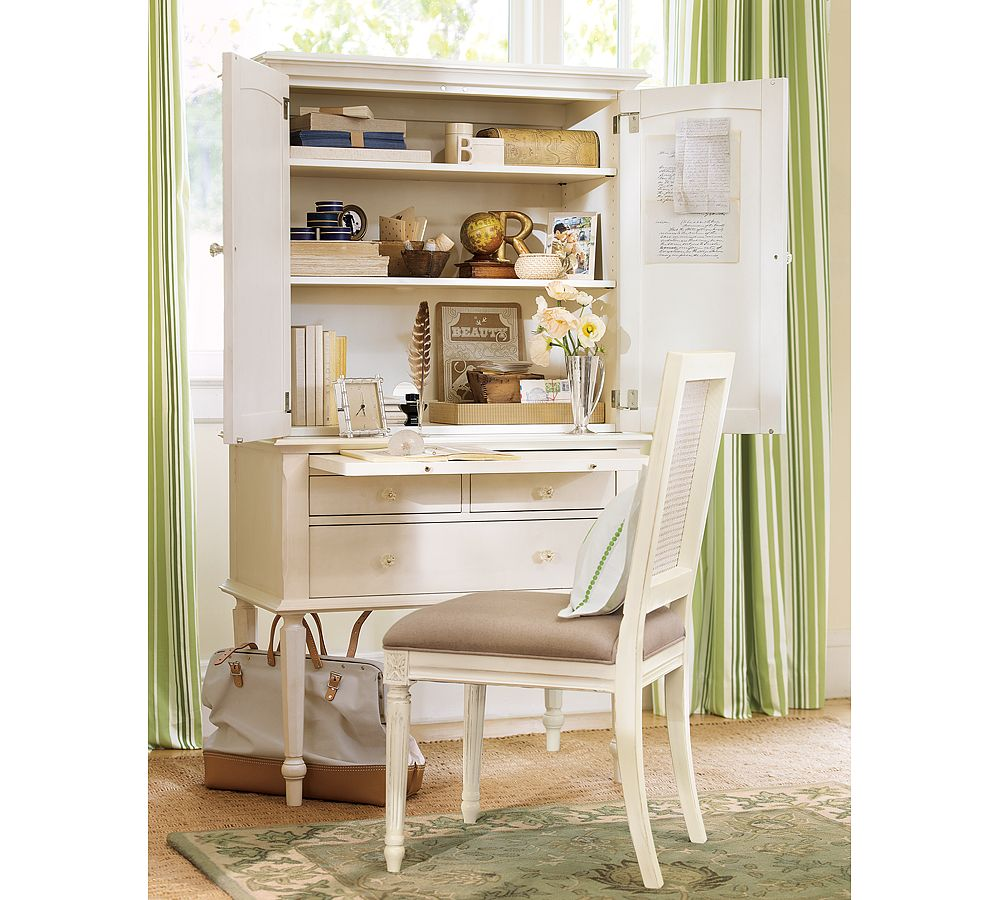 Small White Secretary Desk Home Furniture Design