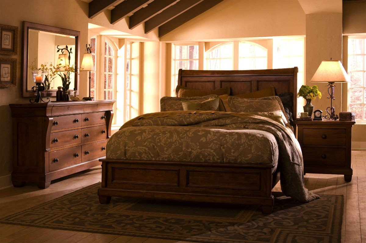 Solid wood queen bedroom sets home furniture design - Queen bedroom sets ...