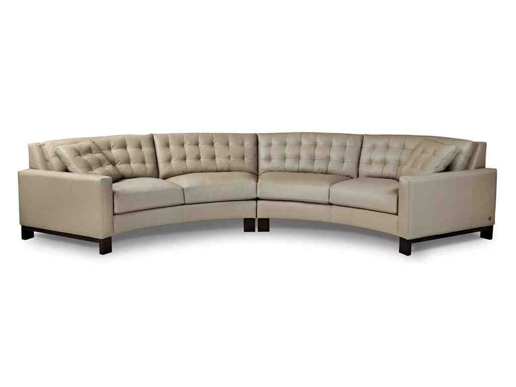Curved leather sofa home furniture design for Furniture sofas and couches