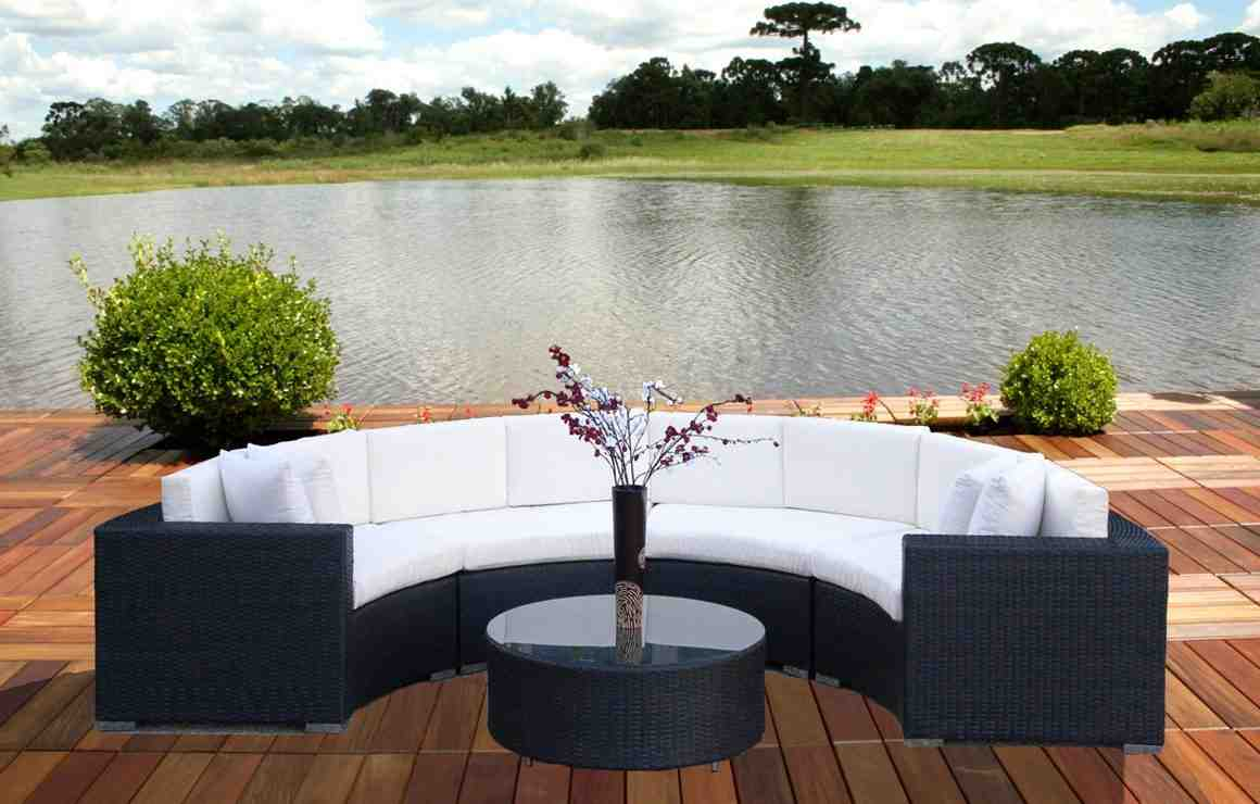 Curved Patio Sofa Home Furniture Design