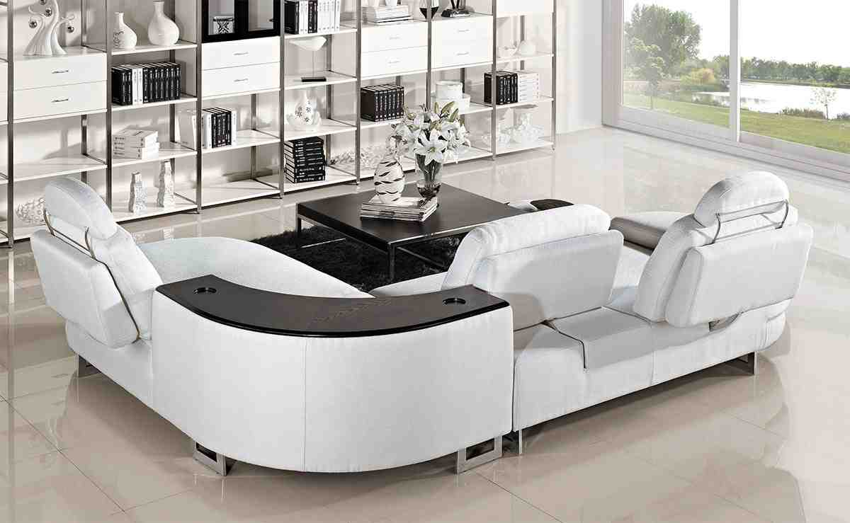 Curved Reclining Sofa Home Furniture Design