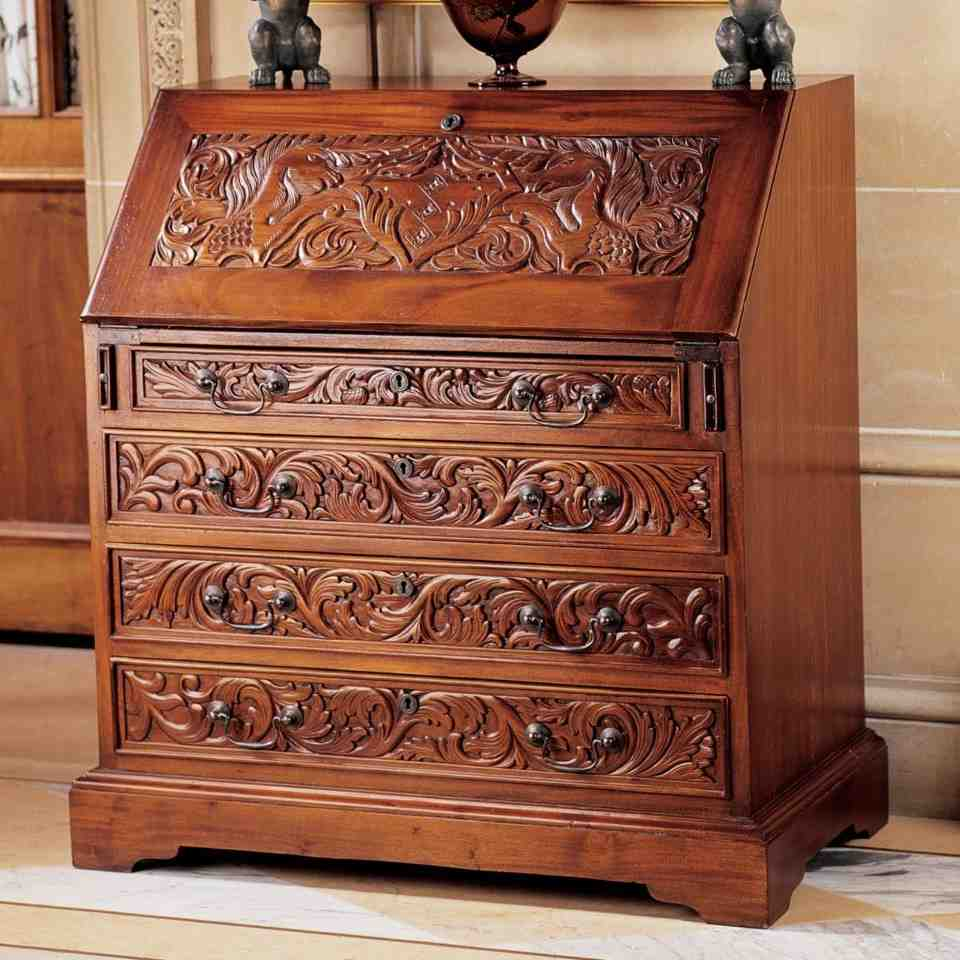 Drop Front Secretary Desk With Hutch Home Furniture Design