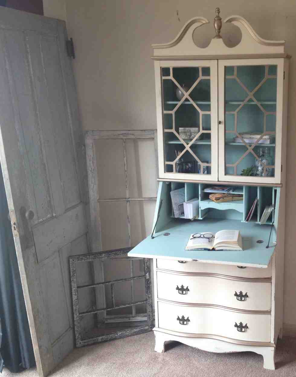 Painted Secretary Desk Home Furniture Design
