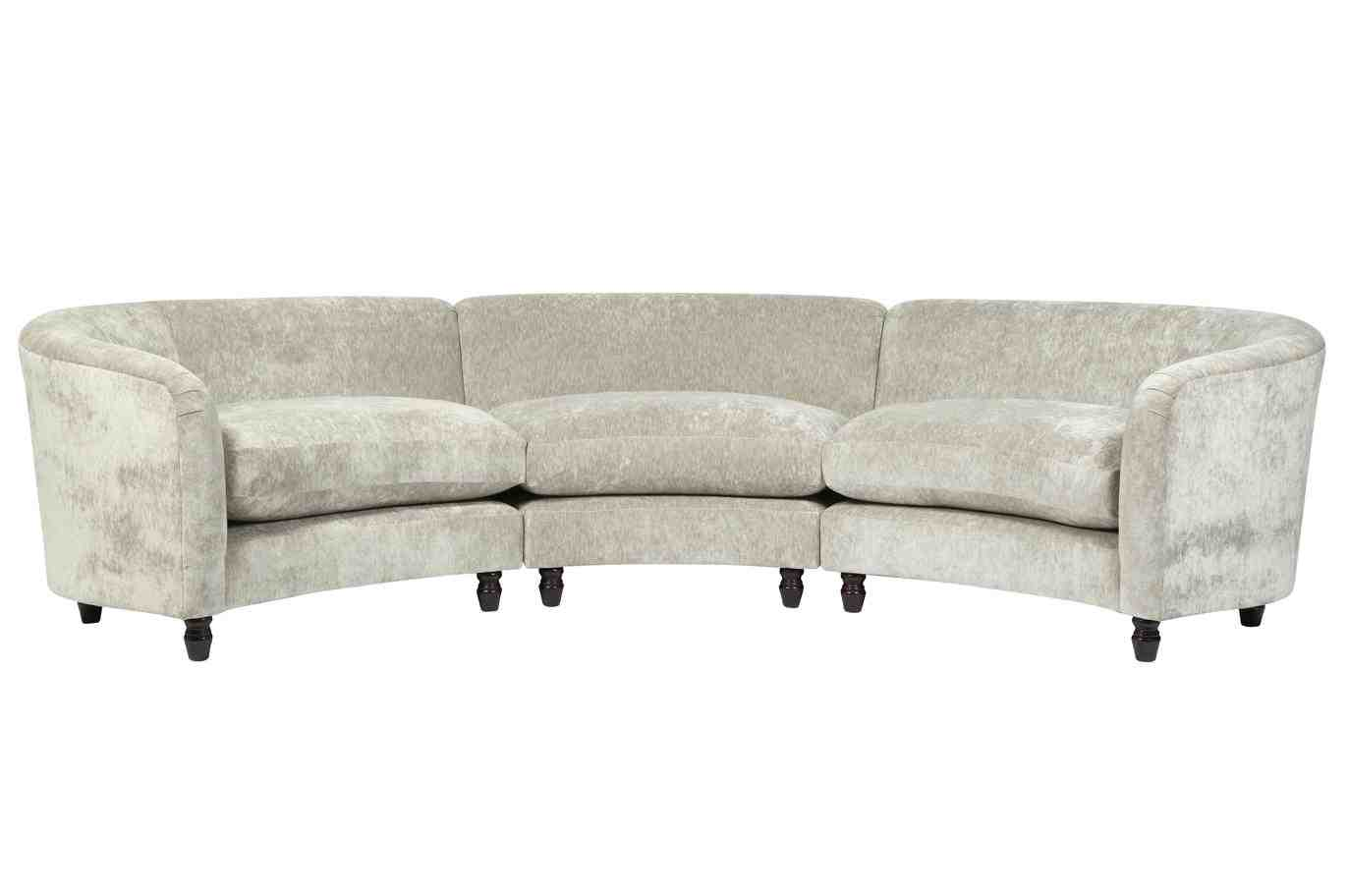 Curve Sofas Italian Curved Sofa At 1stdibs Custom Curved Shape Sofa Avelle 232 Fabric