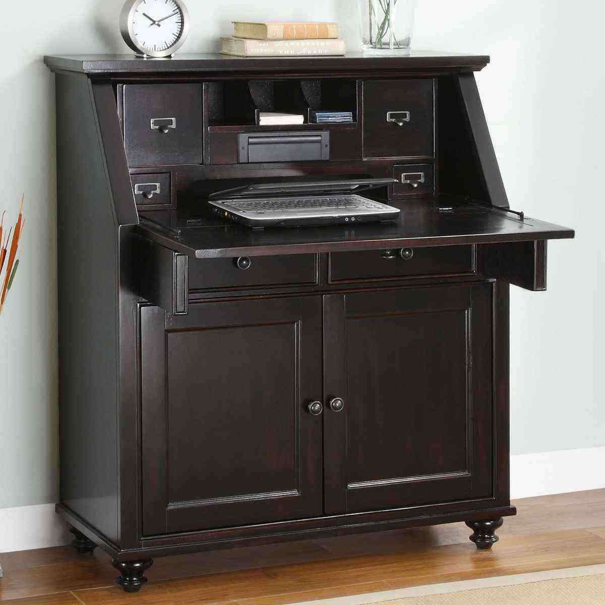 Small secretary desks for small spaces home furniture design - Secretary desk for small spaces property ...