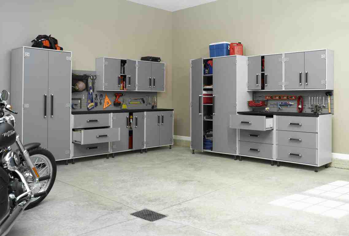Stainless steel garage cabinets home furniture design for Garage furniture ideas