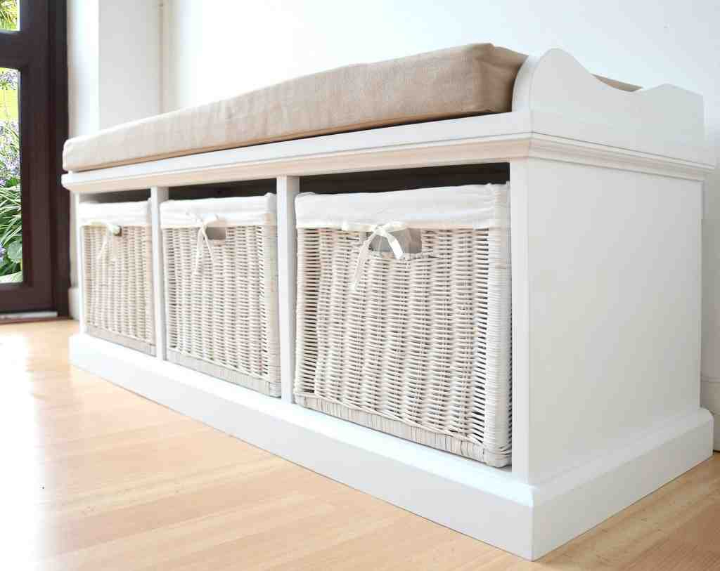 Storage Bench With Cushion Seat Home Furniture Design