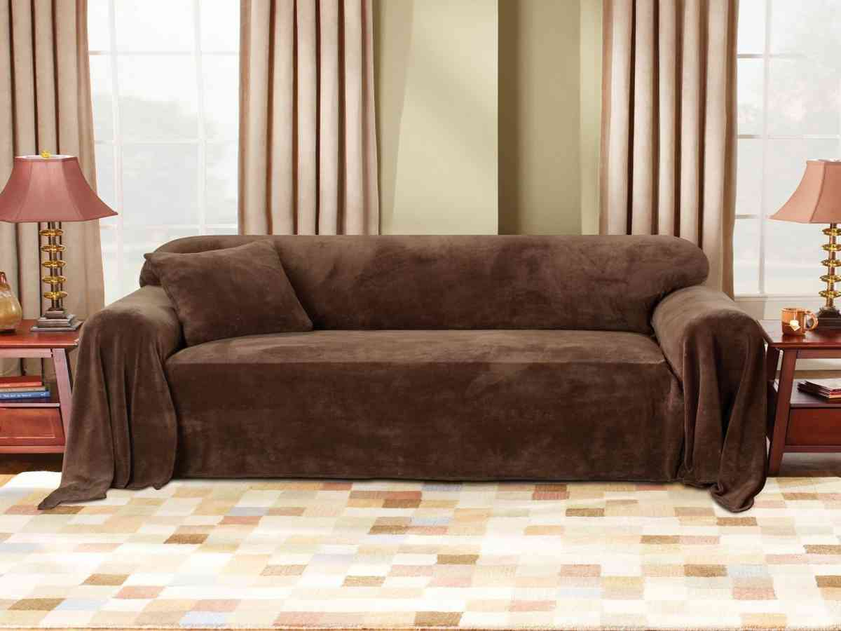 Sure Fit Plush Sofa Throw Cover Home Furniture Design