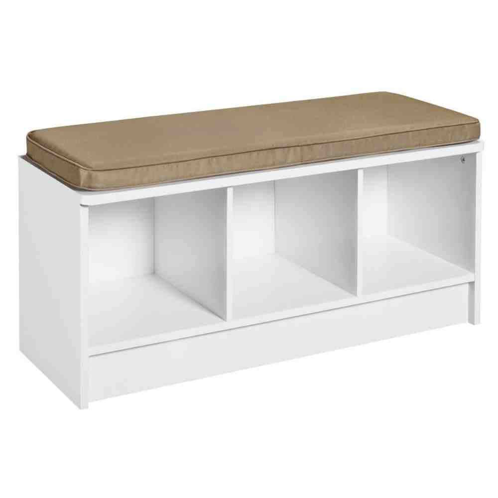 White bench seat with storage home furniture design for Chair with storage