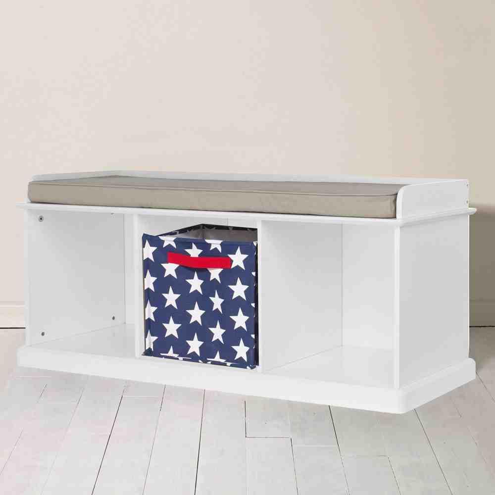 White Storage Bench Seat Home Furniture Design