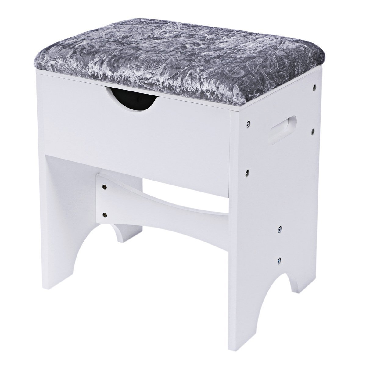 White Storage Bench Seat Home Furniture Design