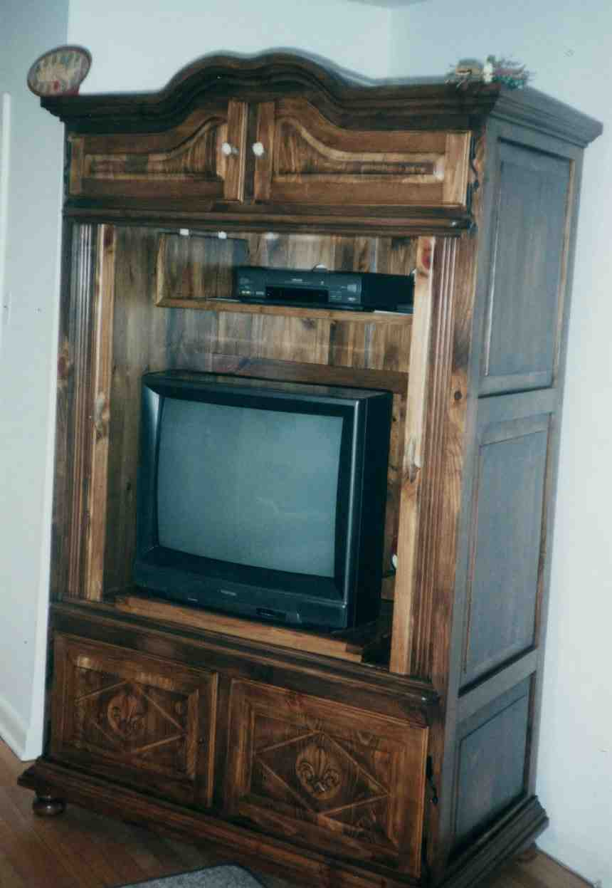 Armoire tv stand home furniture design for Armoire tv design