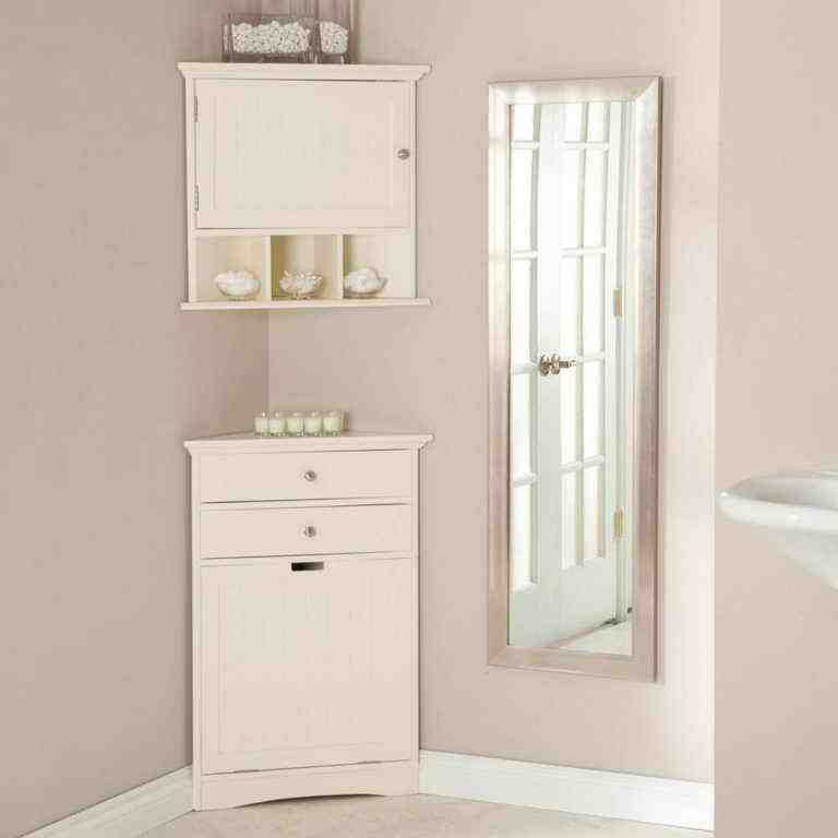 Bathroom corner floor cabinet home furniture design for Bathroom floor cabinet