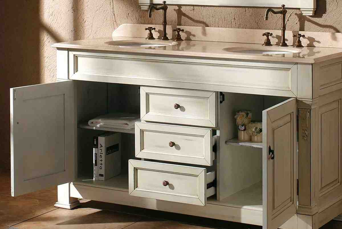 bathroom double vanity cabinets home furniture design. Black Bedroom Furniture Sets. Home Design Ideas