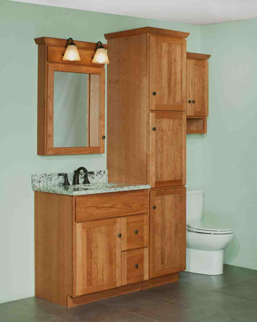 Bathroom vanity and linen cabinet sets home furniture design for Cabinets and vanities