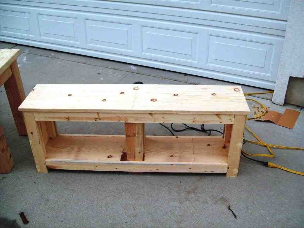 Foyer Bench With Shoe Storage Plans : Bench with shoe storage plans home furniture design