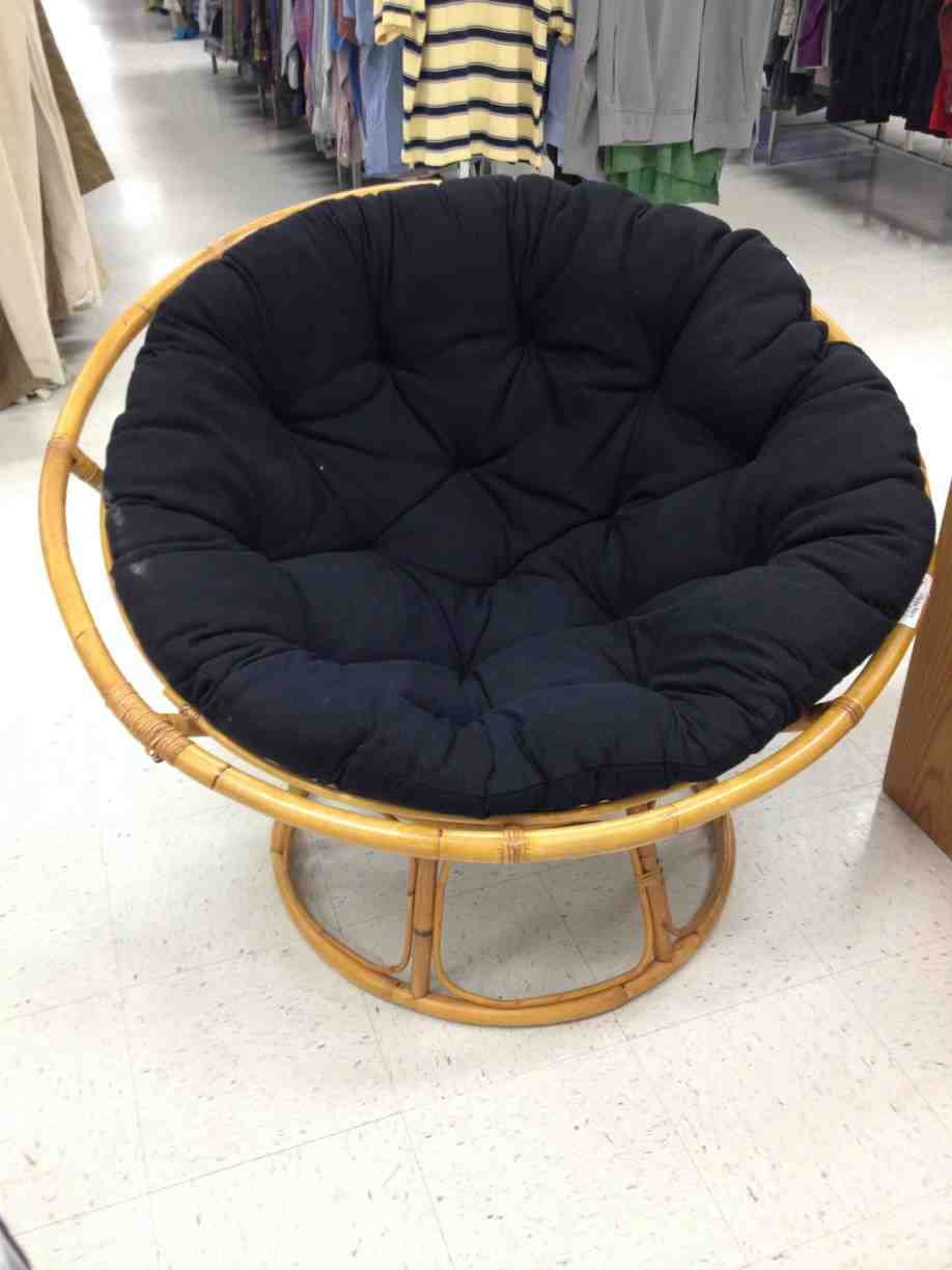 black papasan cushion home furniture design