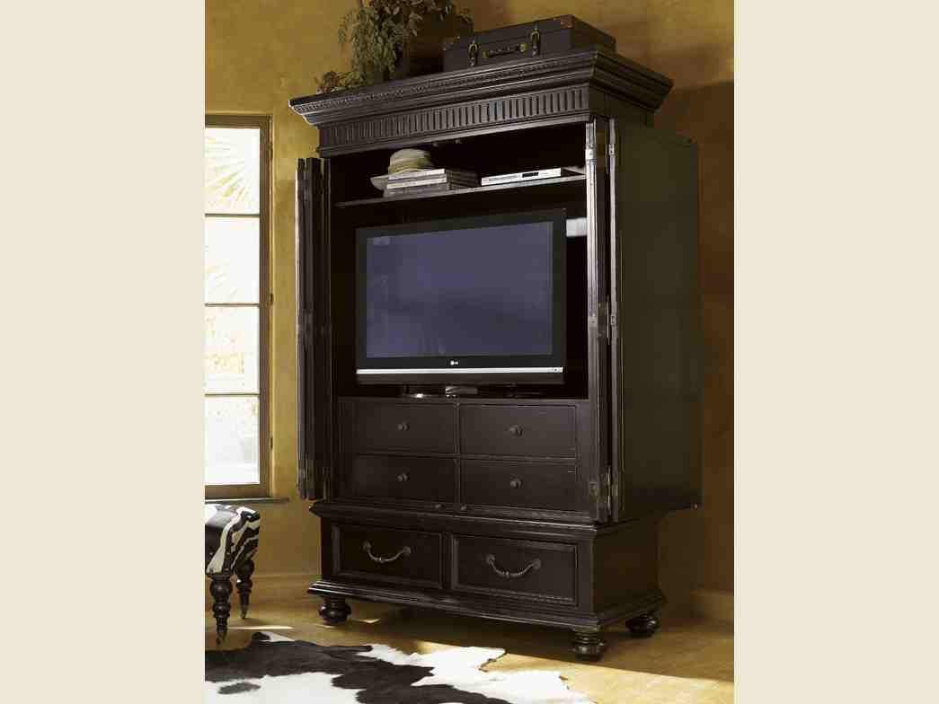 Black tv armoire home furniture design for Entertainment armoire