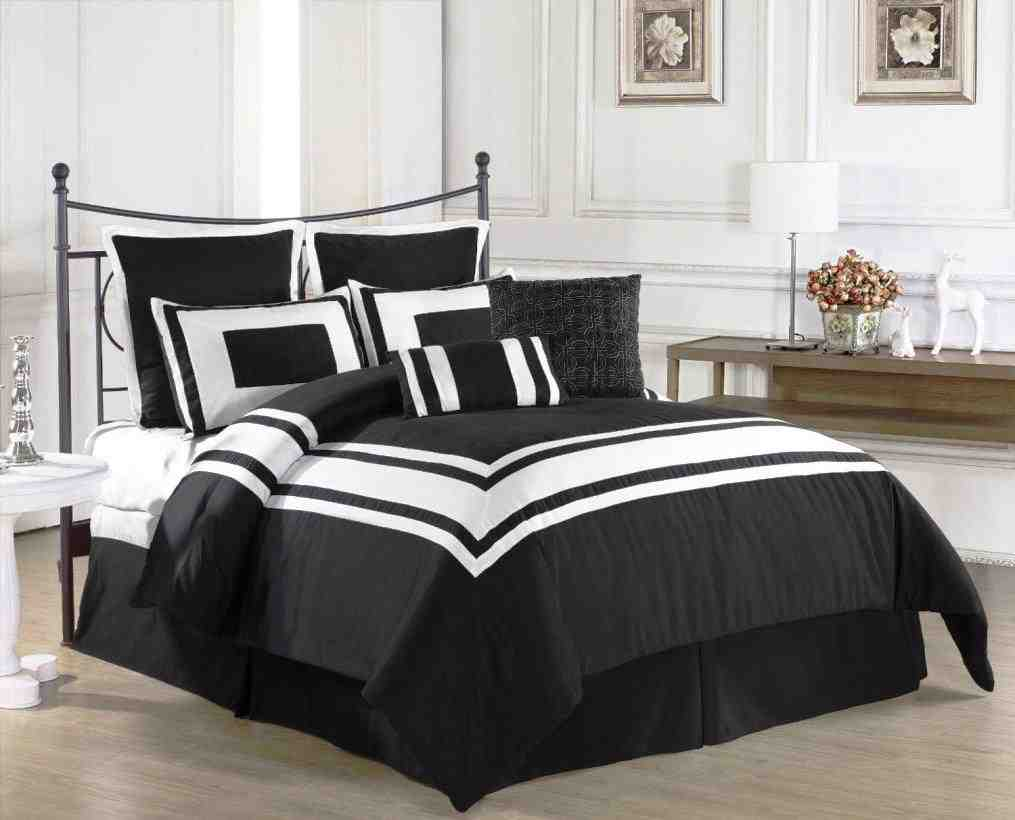 Black And White Twin Comforter Sets Home Furniture Design