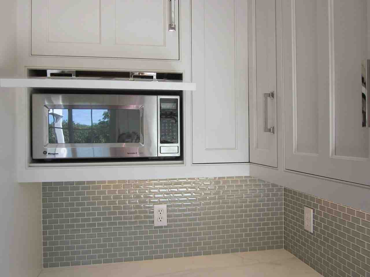 Built In Microwave Cabinet Home Furniture Design