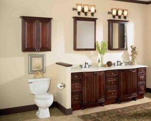 Tall secretary desk with hutch home furniture design for Cherry wood bathroom furniture